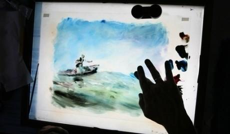 Ожившая живопись на кончиках пальцах
