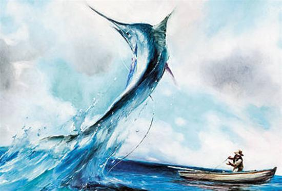 Кадр из мультфильма  Александра Петрова  Старик и море по Хемингуэю