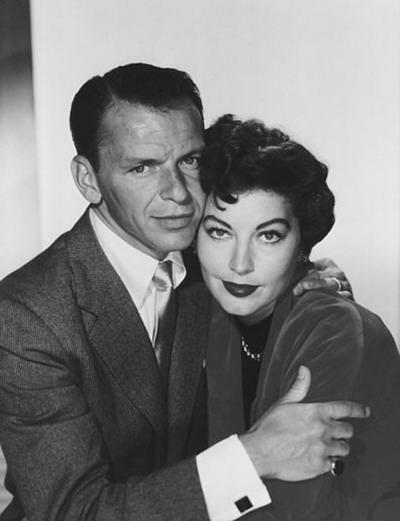 foto de Ava Gardner e seu segundo marido Frank Sinatra juntos