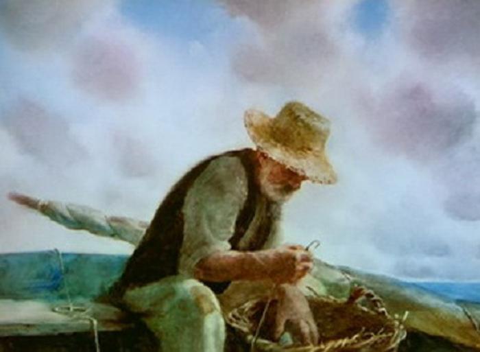 """ожившая живопись фильма """"Старик и море"""""""