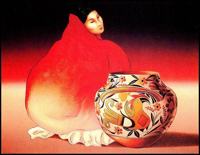 Образ женщины в живописи индейцев