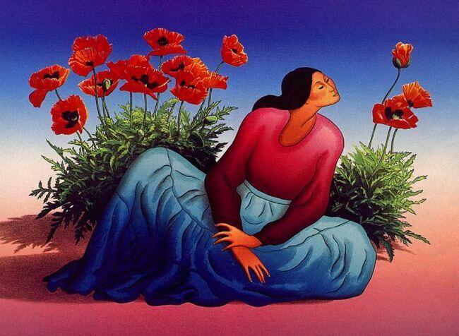 женщины на картинах