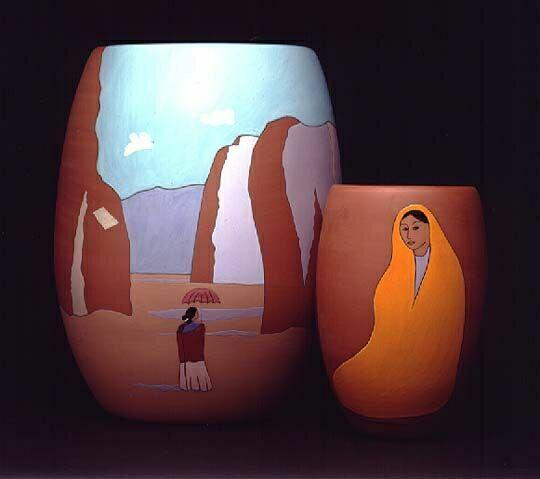 образ женщины на керамике