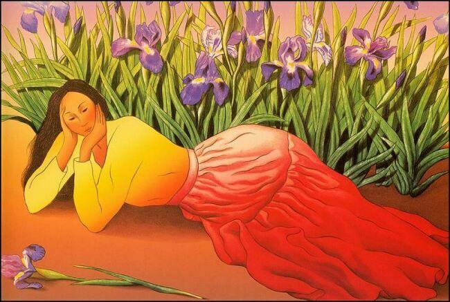 солнечный женский образ в живописи