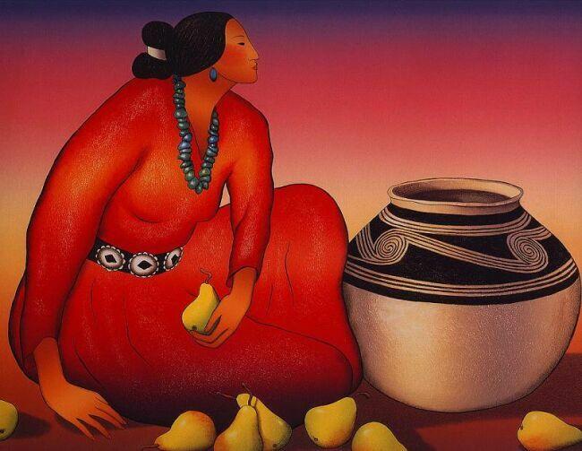 Женские образы в живописи художников