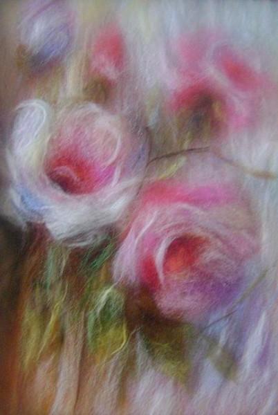 Цветы из шерсти картины