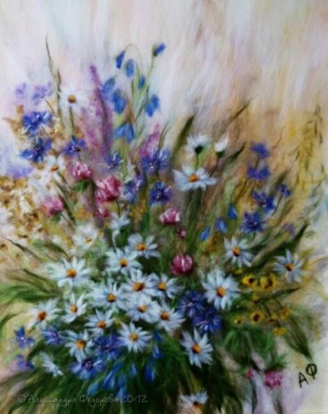 Красивые картины из шерсти Александры Федоровой