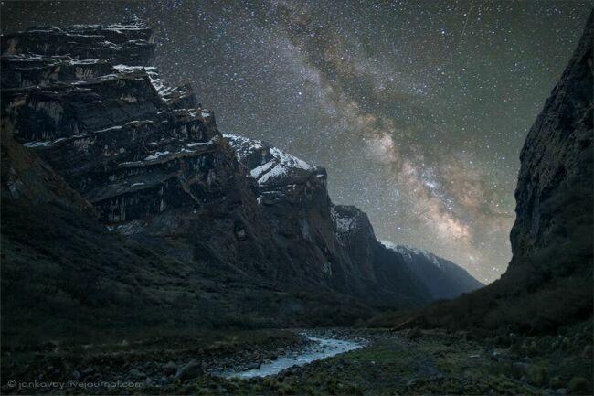 Фото Непал горы ночью