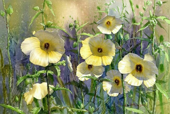 Цветы акварелью в живописи