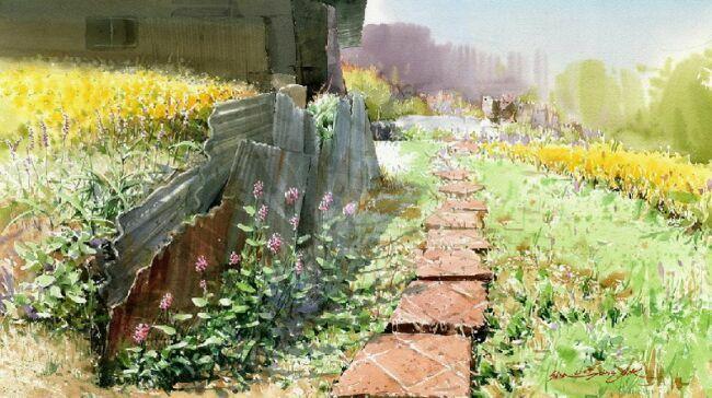 акварельная живопись пейзаж