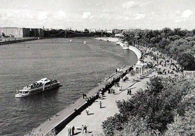 Набережная ЦПКиО имени Горького -50-е годы