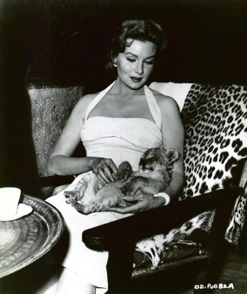 фото женщина с большой кошкой