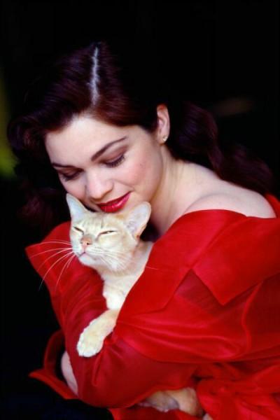 женщина-фото с кошкой