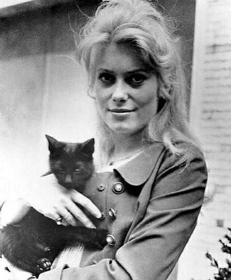 Catherine Deneuve и кошка