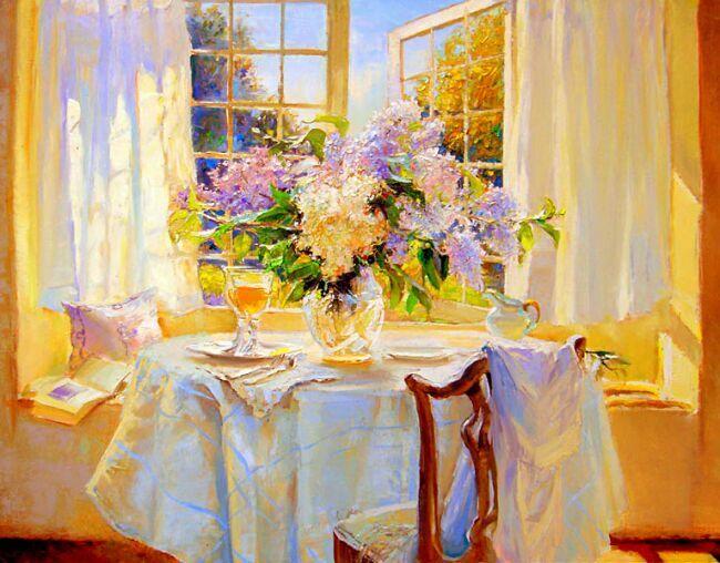 картины маслом цветы букеты
