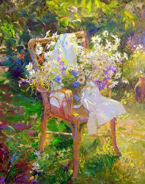 Мария Щербинина букет полевых цветов