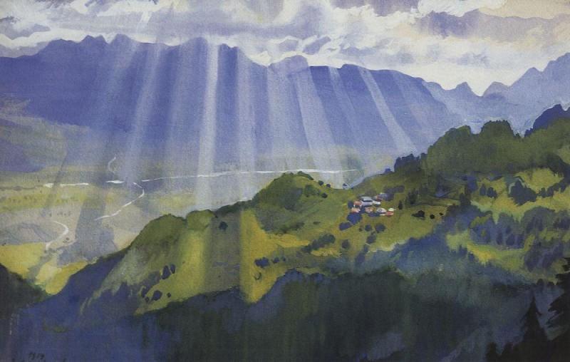Швейцарский пейзаж Серебряковой