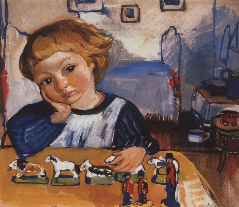 Портрет сына Жени, 1909