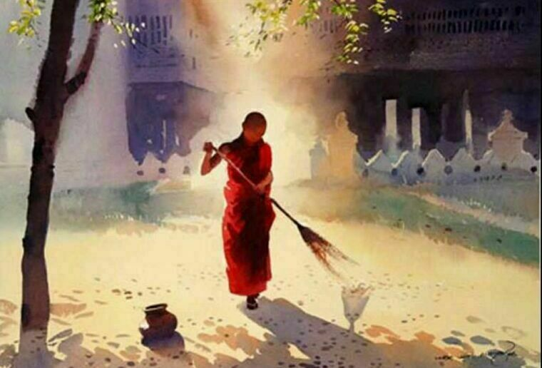 Акварельная живопись Myoe Win_Aung 2