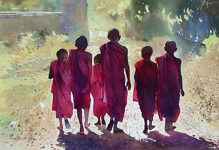 живописные картины Myoe Win Aung