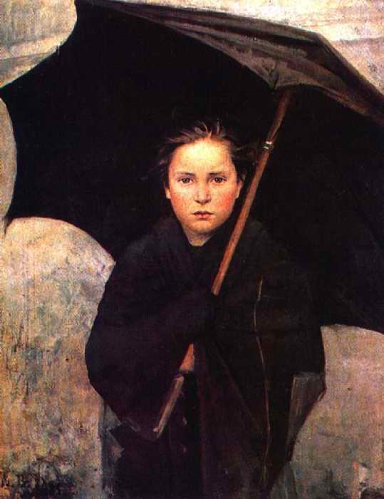 картина Дождевой зонт 1883 Русский музей, Санкт-Петербург