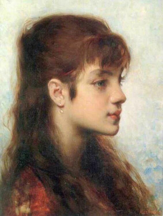 Портрет девочки, картины Марии Башкирцевой