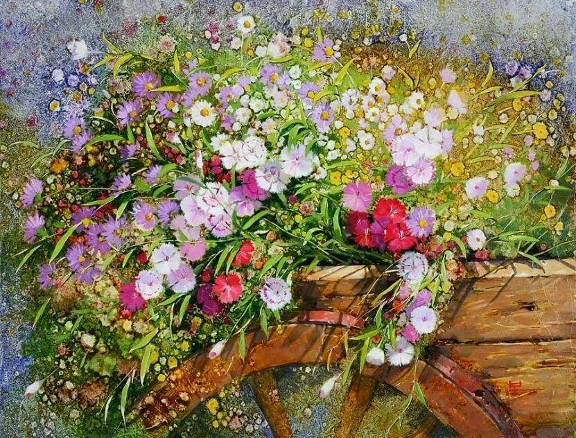 цветы картина Yi Seong-Bu