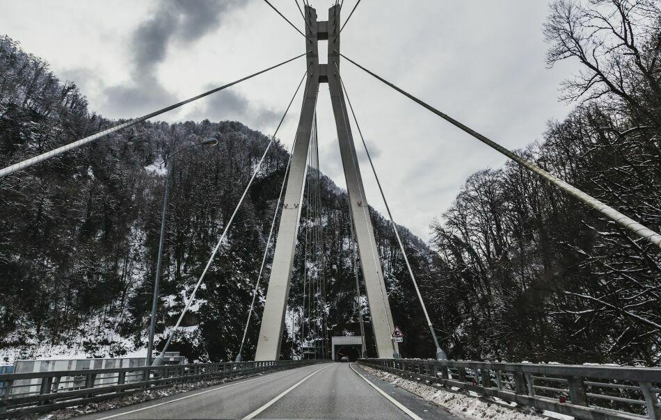 Подвесной мост на пути  в скайпарк