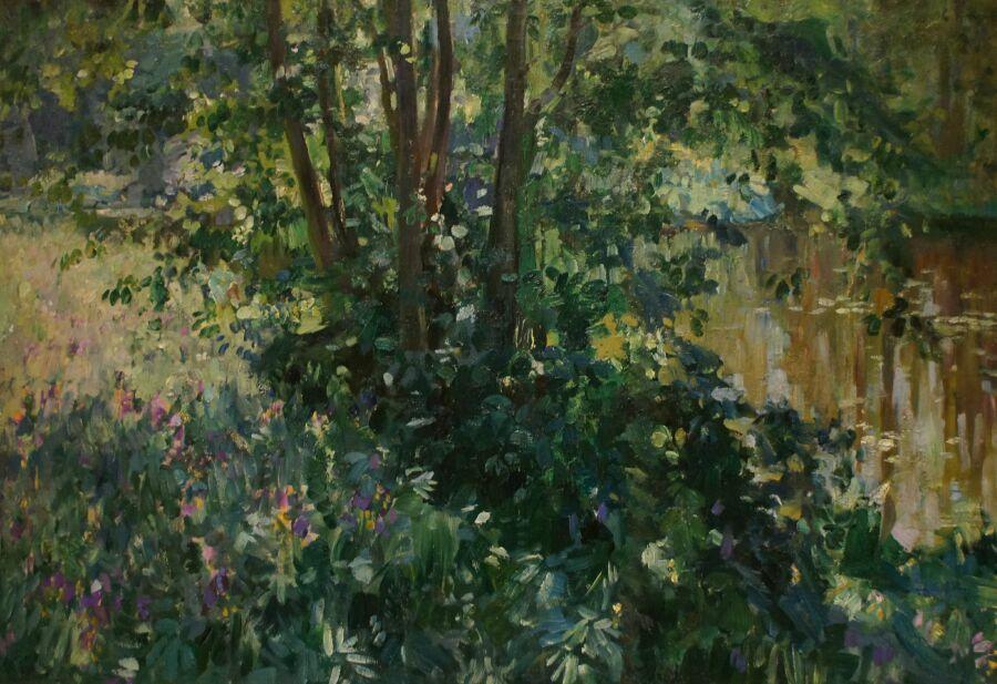 картины на выставке в Музее русского импрессионизма