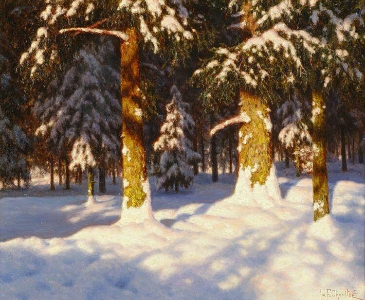 Zalityj solncem zimnij les. I.F. Shul'tce
