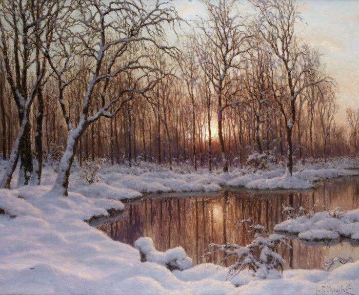 Lesnaja reka zimoj. Shul'tce