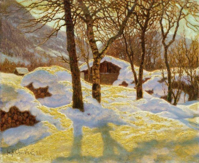 Zimnij pejzazh v utrennem solnce. I.F. Shul'tce