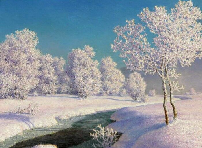 Zimnee utro v Jengadine. I.F. Shul'tce